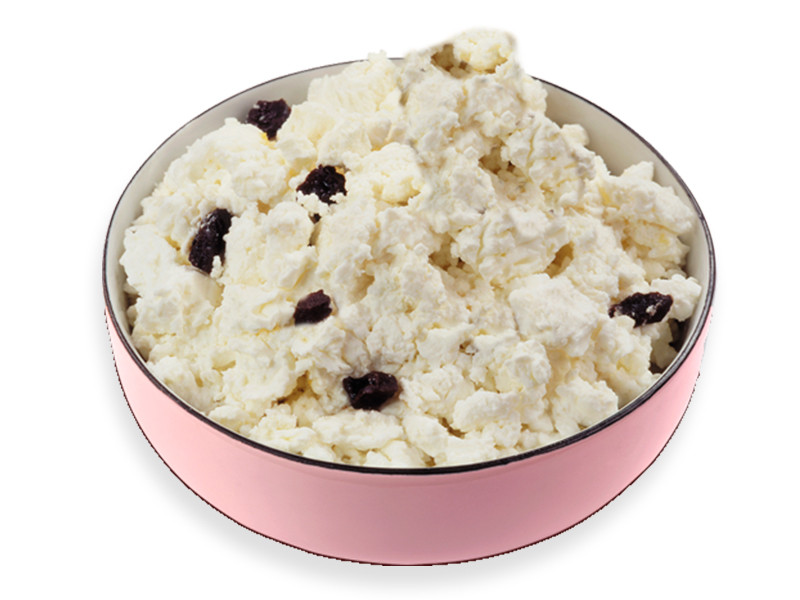 Cottage cheese with raisins (weight)