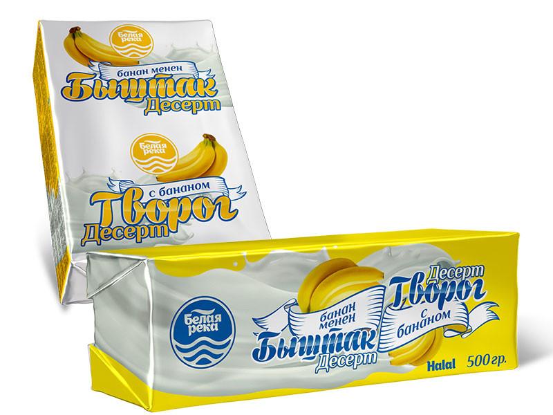 Банан қосылған сүзбе