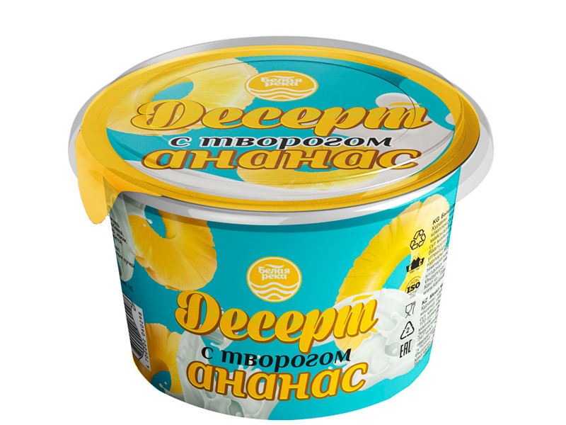 Dessert with cottage cheese pineapple
